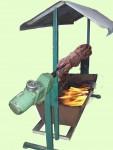 Schweinegrill mit Dach und Motor