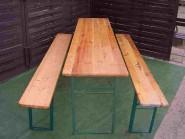 Bierzeltgarnitur bestehend aus 2 Bänke + 1 Tisch